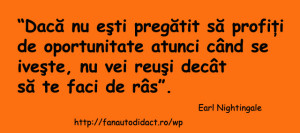 Earl Nightingale oportunitate