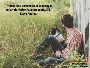 _Atunci când oamenii se deconectează de la valorile lor, îşi pierd motivaţia._Steve Andreas