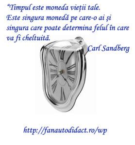 carl sandberg timpul