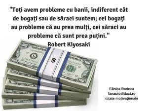 toţi avem probleme cu banii, indiferent